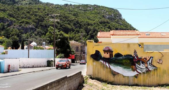 Έργα από street-artists της εγχώριας σκηνής στο νησί της Σάμου - Karlovasi Stree
