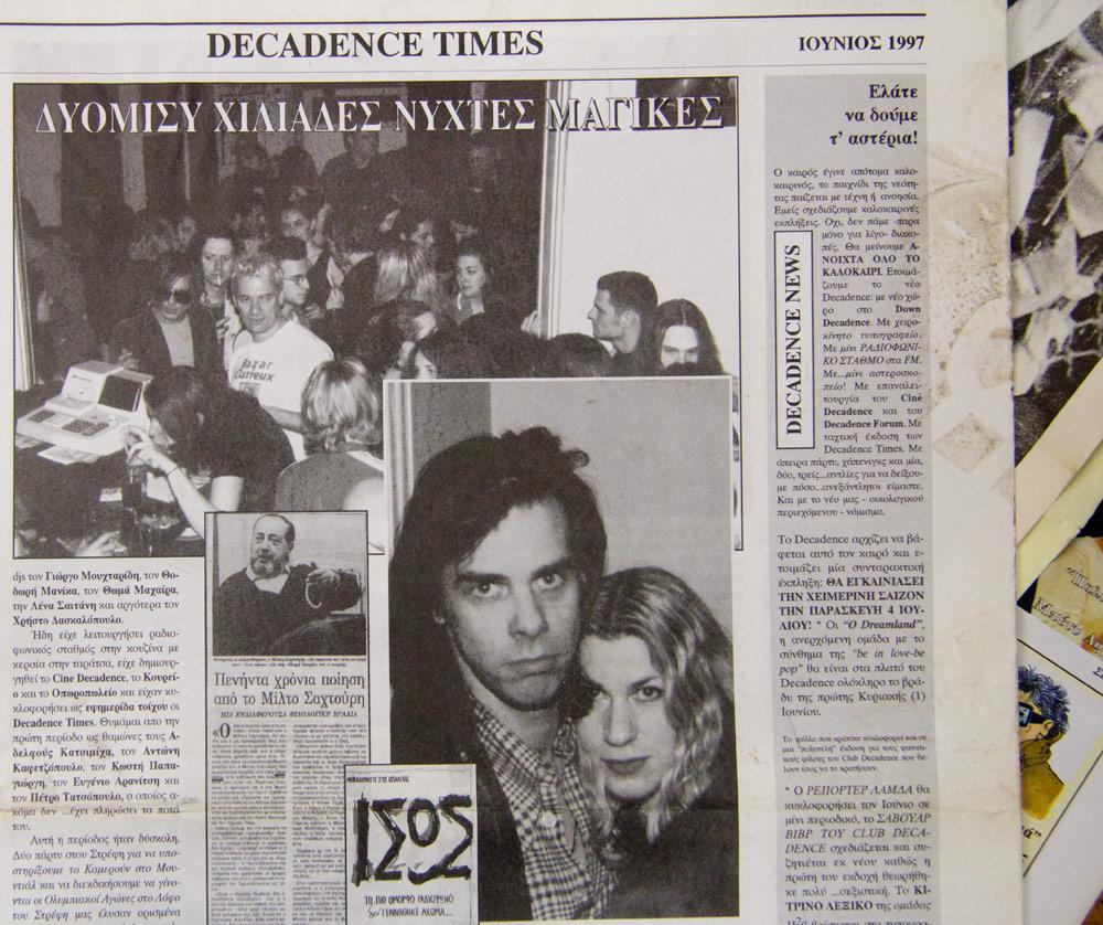 και ο Nick Cave στο Decadence