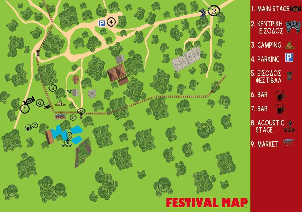 Ο χάρτης του φεστιβάλ