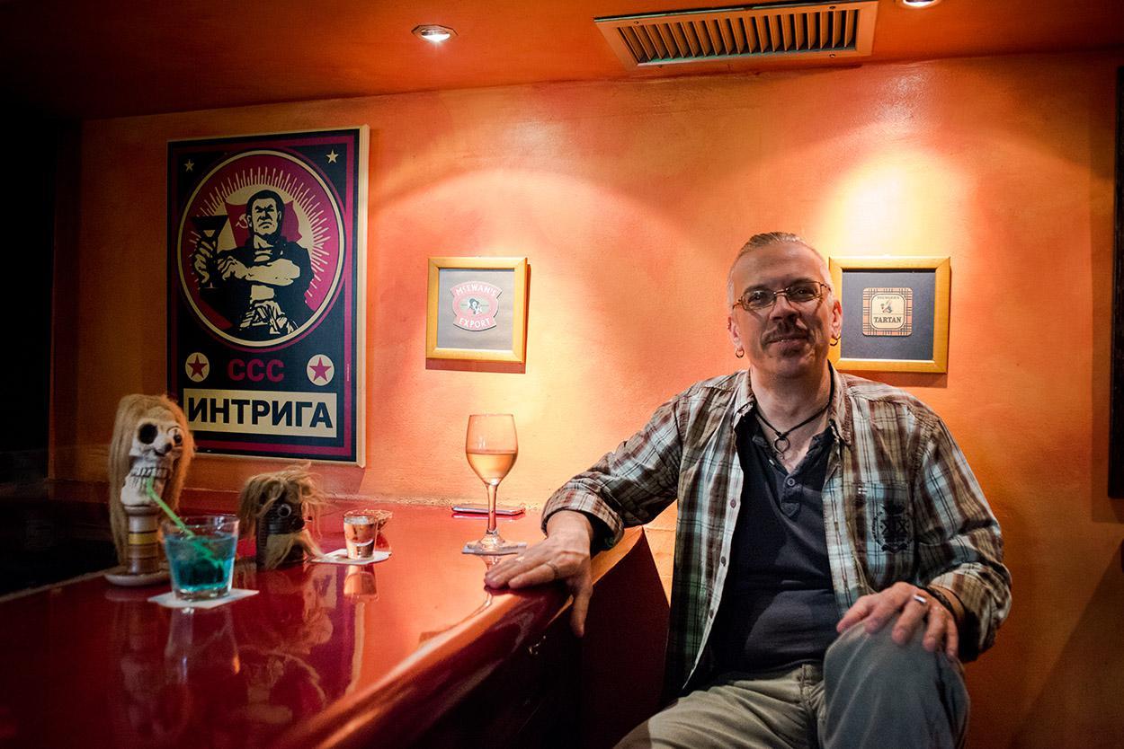 Με τον Mickey Pantelous στην Ίντριγκα