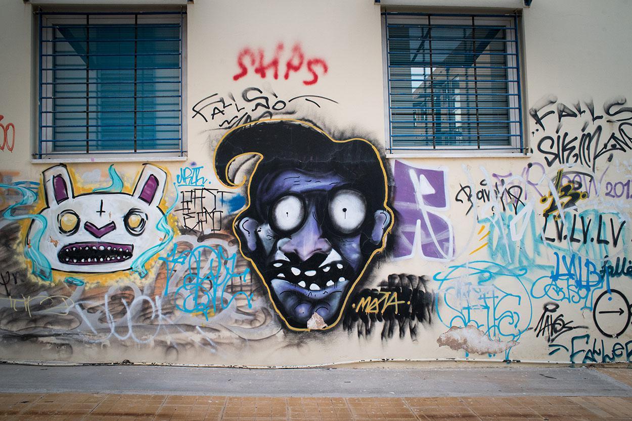 Φωτογραφική βόλτα στο χώρο Πολυτεχνειούπολης στου Ζωγράφου -έργα από καλλιτέχνες της  αθηναϊκής streetart σκηνής
